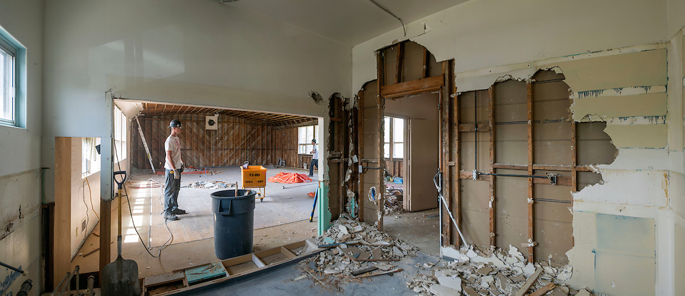 Canada, Edmonton. May/22/2013. McKernan Community League building renovation project. Demolition and pre-excavation.
