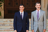 080618 King Felipe VI of Spain attends a meeting with Pedro Sanchez