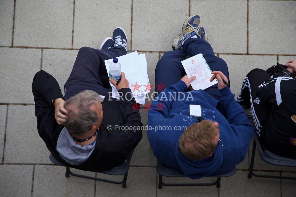 NEWPORT, WALES - Saturday, May 30, 2015: Delegates during the Football Association of Wales' National Coaches Conference 2015 at Dragon Park. (Pic by David Rawcliffe/Propaganda)