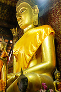Image of the interior of  Wat Xiengthong, Luang Prabang, Laos.