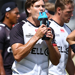 DURBAN, SOUTH AFRICA - JANUARY 19: Morne Joubert during the Cell C Sharks training session at Growthpoint Kings Park on January 19, 2018 in Durban, South Africa. (Photo by Steve Haag/Gallo Images)