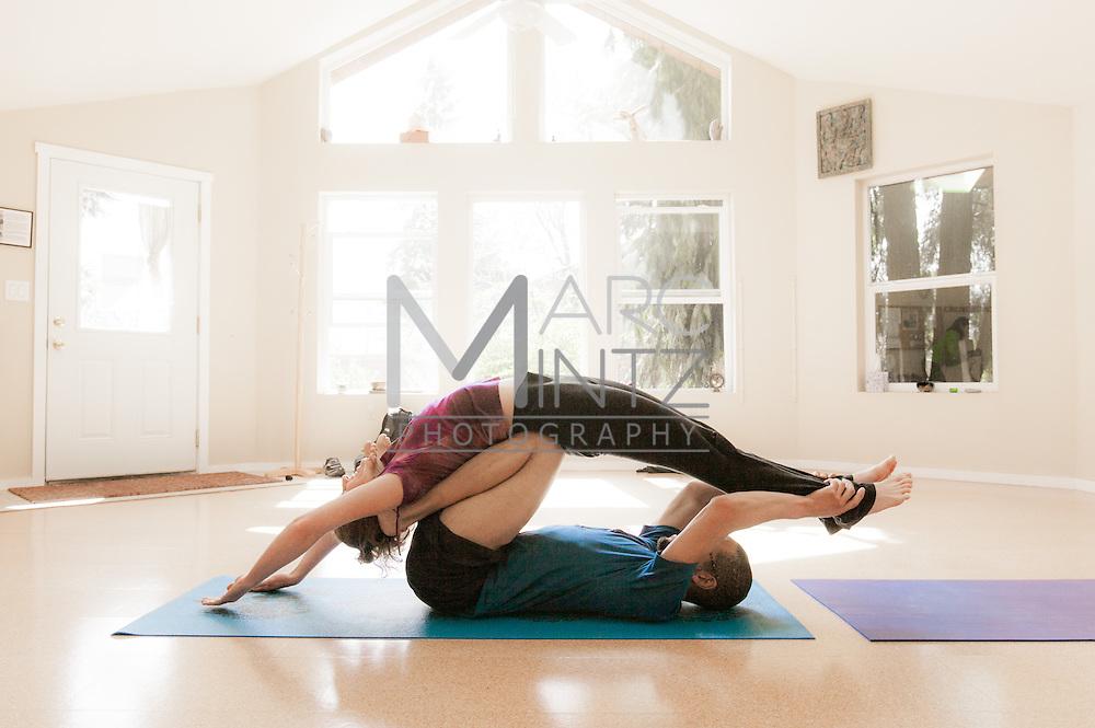 Acro yoga.  Corvallis, OR.