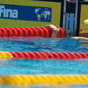 Meagen Nay competing in the Women's 4 x 100m freestyle relay at the World Swimming Championships in Rome on Sunday, July 26, 2009. Photo Tim Clayton.