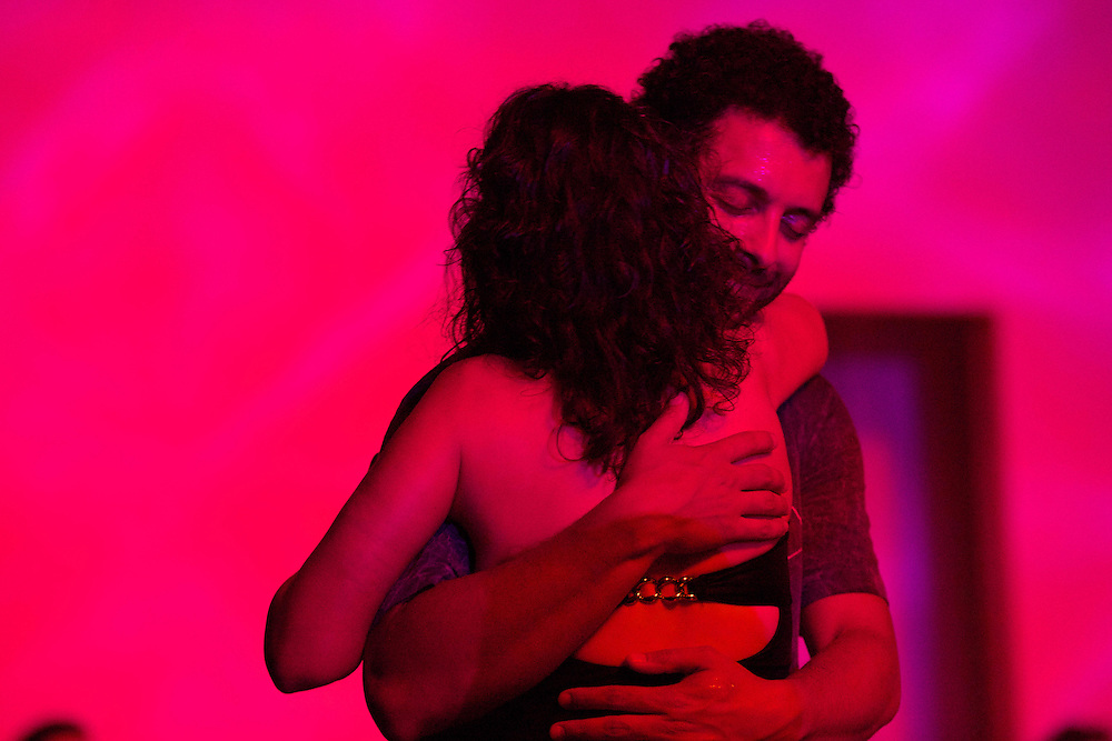 At Milonga Querida in Los Angeles, dancers escape in a kaleidoscope of color. Performance by Argentine Tango World Champions Sebastian Jimenez and Maria Ines Bogado.
