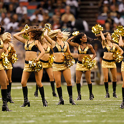 September 26, 2010; New Orleans, LA, USA; New Orleans Saints Saintsations cheerleaders perform during the first half at the Louisiana Superdome. Mandatory Credit: Derick E. Hingle-US PRESSWIRE