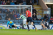 Dundee keeper Scott Bain saves from Celtic's Leigh Griffiths - Dundee v Celtic, Ladbrokes Scottish Premiership at Dens Park<br />  <br />  - &copy; David Young - www.davidyoungphoto.co.uk - email: davidyoungphoto@gmail.com