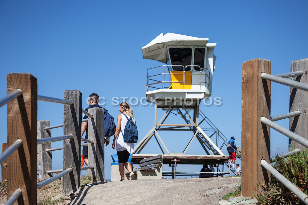 Lifeguard Tower at Rocky Point in La Jolla San Diego