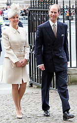 The Earl and Countess of Wessex arrive at the annual Commonwealth Observance at Westminster Abbey in London, Monday, 10th March 2014. Picture by Stephen Lock / i-Images