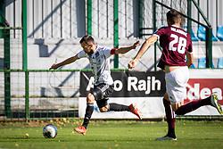 Žiga Kous of Mura and Milan Milanović of Triglav during football match between NŠ Mura and Nk Triglav in 14th Round of Prva liga Telekom Slovenije 2019/20, on October 19, 2019 in Fazanerija, ;urska Sobota, Slovenia. Photo by Blaž Weindorfer / Sportida
