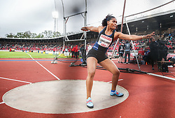 STOCKHOLM, May 31, 2019  Denia Caballero of Cuba competes during the women's discus throw at 2019 IAAF Diamond League in Stockholm, capital of Sweden, on May 30, 2019. Denia Caballero won the 1st place with 65.10m. (Credit Image: © Xinhua via ZUMA Wire)