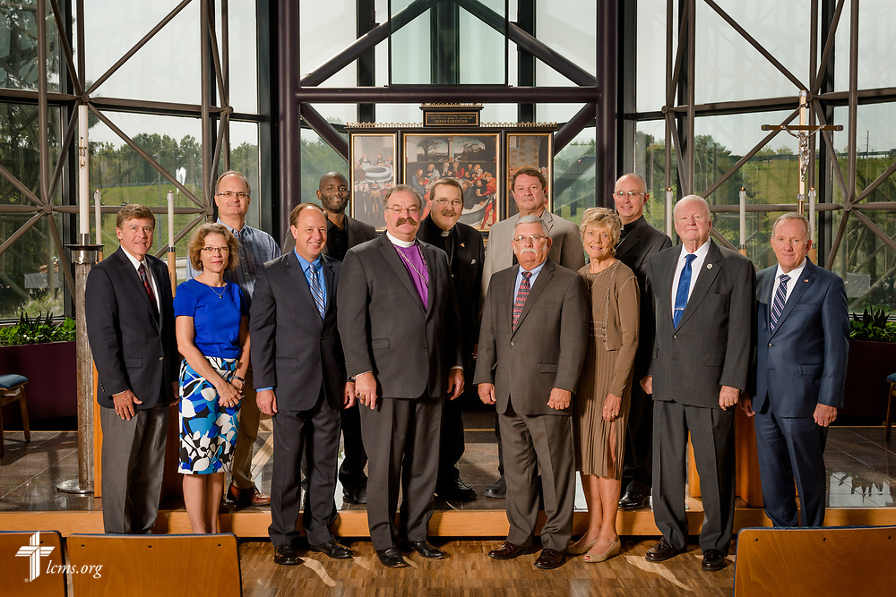 Group photograph of the LCMS Board of Directors on Friday, Aug. 25, 2017, at the International Center of The Lutheran Church–Missouri Synod in St. Louis. LCMS Communications/Erik M. Lunsford