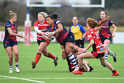 Rownita Marston of Bristol Bears Women is tackled - Mandatory by-line: Paul Knight 12/2019 - RUGBY - Shaftesbury Park - Bristol, England - Bristol Bears Women v Gloucester-Hartpury Women - Tyrrells Premier 15s
