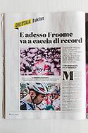Giro d'Italia 2018, Sportweek RCS. SportWeek_N_22_02_Giugno_2018 pag4<br /> <br /> 101st Giro d'Italia (2.UWT) 2018