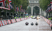 Mens  Hand Cycle Classic<br /> Prudential RideLondon, the world&rsquo;s greatest festival of cycling, involving 70,000+ cyclists &ndash; from Olympic champions to a free family fun ride - riding in five events over closed roads in London and Surrey over the weekend of 9th and 10th August. <br /> <br /> Photo: SCOTT HEAVEY for Prudential RideLondon<br /> <br /> See www.PrudentialRideLondon.co.uk for more.<br /> <br /> For further information: Penny Dain 07799 170433<br /> pennyd@ridelondon.co.uk