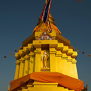 The stupa of Wat Si Umong Kham, Phayao, Thailand