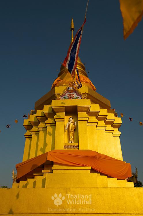 The stupa of Wat Si Umong Kham, Phayao, Thailand