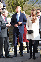 © Licensed to London News Pictures.  19/03/2013. SAUNDERTON, UK. The Duke and Duchess of Cambridge, William (pictured) and Kate (pictured) arrive at the Clare Centre in Saunderton to visit the offices of charity Child Bereavement UK. Photo credit :  Cliff Hide/LNP