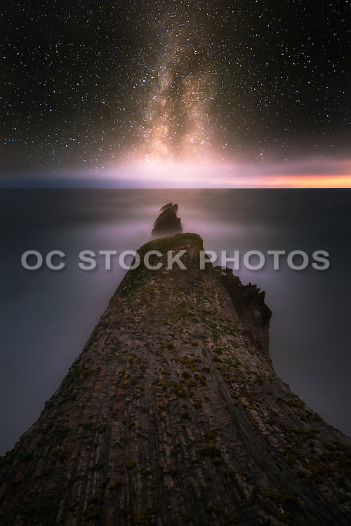 Stars Over Montana de Oro State Park at Night