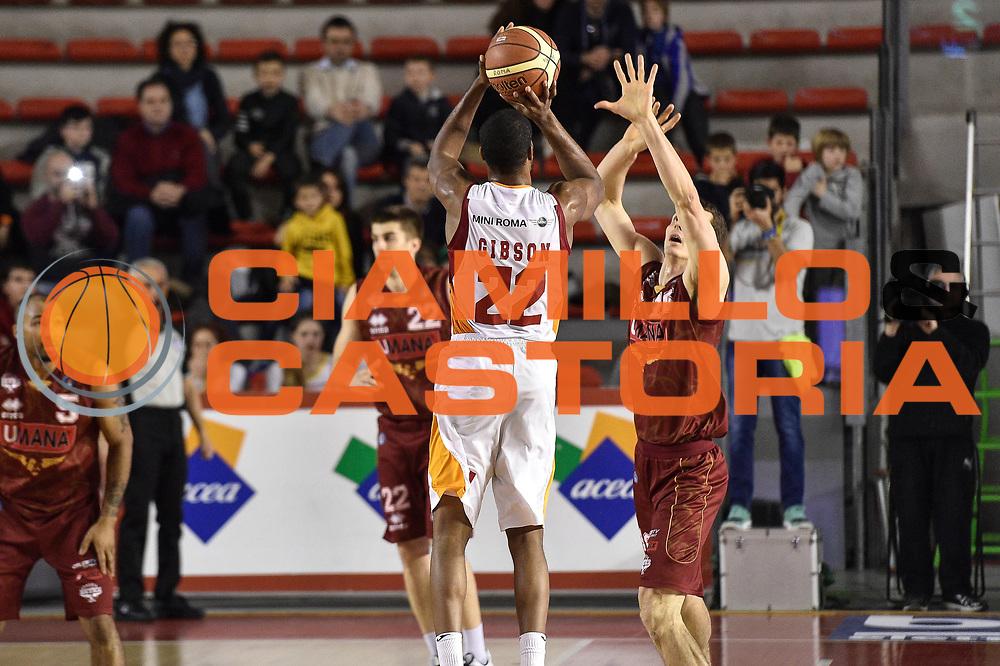 DESCRIZIONE : Campionato 2014/15 Virtus Acea Roma - Umana Reyer Venezia<br /> GIOCATORE : Kyle Gibson<br /> CATEGORIA : Tiro Tre Punti Three Points Controcampo<br /> SQUADRA : Virtus Acea Roma<br /> EVENTO : LegaBasket Serie A Beko 2014/2015<br /> GARA : Virtus Acea Roma - Umana Reyer Venezia<br /> DATA : 01/02/2015<br /> SPORT : Pallacanestro <br /> AUTORE : Agenzia Ciamillo-Castoria/GiulioCiamillo<br /> Predefinita :