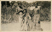Fig. 33 Veddah woman and children. R. L. Spittel, Colombo.<br /> Ranil Bibile - R.L. Spittel collection