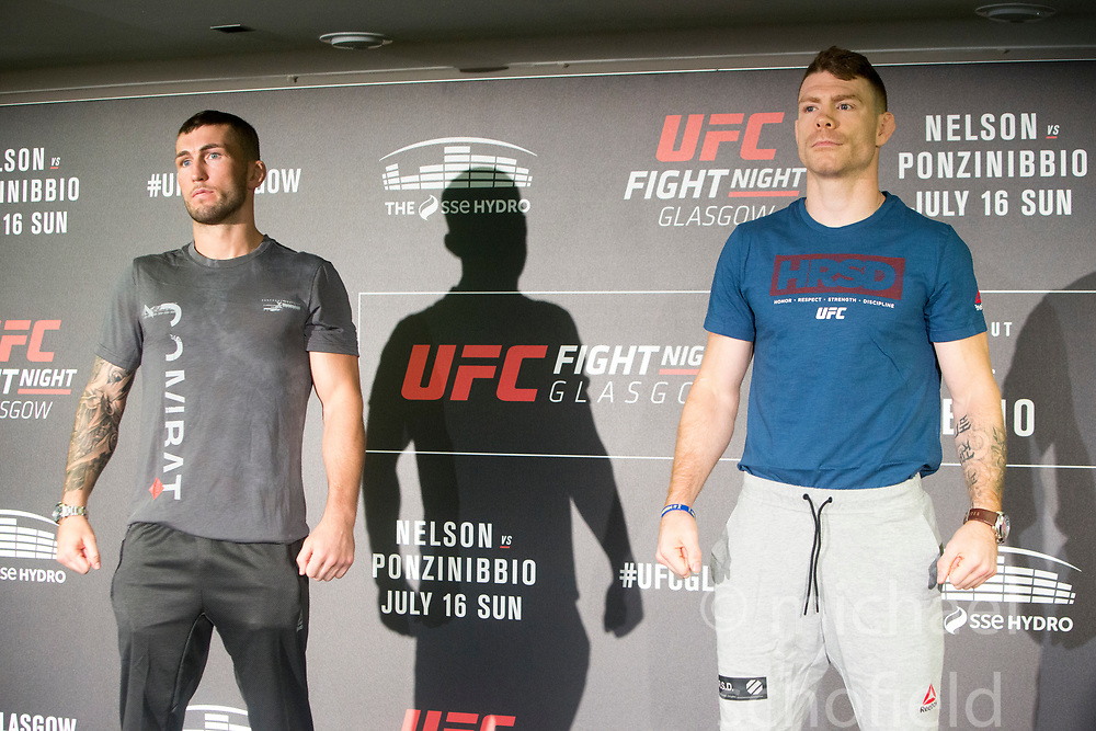 Scot Stevie Ray – UFC lightweight with Paul Felder – UFC lightweight. UFC FIGHT NIGHT: ULTIMATE MEDIA DAY, Castle, Crowne Plaza Glasgow,