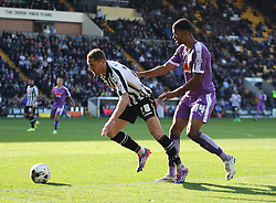 Gill Swerts of Notts County (L) and Jake Jervis of Plymouth Argyle in action - Mandatory byline: Jack Phillips / JMP - 07966386802 - 11/10/2015 - FOOTBALL - Meadow Lane - Nottingham, Nottinghamshire - Notts County v Plymouth Argyle - Sky Bet Championship