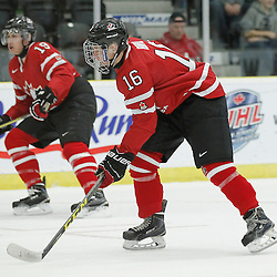COBOURG, - Dec 16, 2015 -  Game #9 - Canada East vs Canada West at the 2015 World Junior A Challenge at the Cobourg Community Centre, ON. Brandon Biro #16 of Team Canada West during the second period<br /> (Photo: Amy Deroche / OJHL Images)