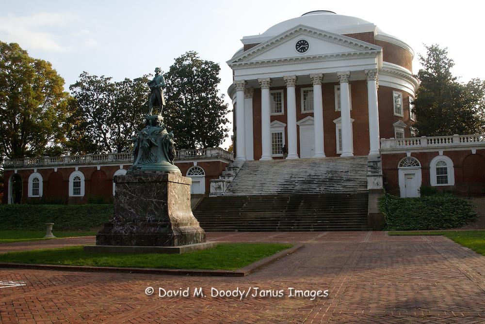 The Library with it's rotunda, designed by UVA's founder Thomas Jefferson. University of Virginia Campus Charlottesville, Virginia