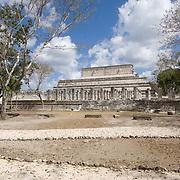 Warriors temple at Chichen Itza. Yucatan, Mexico.