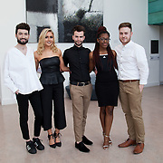 13.05.2016.           <br /> Comic Finnegan, Monaghan, Kristina Finlay, Drogheda, Ciaran Murray, Offaly, Eva Kimpwene, Mayo and Gregor Pitch, Tralee pictured at the much anticipated Limerick School of Art & Design, LIT, (LSAD) Graduate Fashion Show on Thursday 12th May 2016. The show took place at the LSAD Gallery where 27 graduates from the largest fashion degree programme in Ireland showcased their creations. Ranked among the world's top 50 fashion colleges, Limerick School of Art and Design is continuing to mould future Irish designers.. Picture: Alan Place/Fusionshooters
