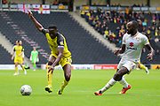 Burton Albion forward Lucas Akins during the EFL Sky Bet League 1 match between Milton Keynes Dons and Burton Albion at stadium:mk, Milton Keynes, England on 5 October 2019.