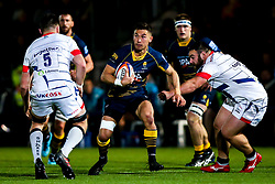 Nick David of Worcester Cavaliers breaks through - Mandatory by-line: Robbie Stephenson/JMP - 24/09/2018 - RUGBY - Sixways Stadium - Worcester, England - Worcester Cavaliers v Sale Jets - Premiership Rugby Shield