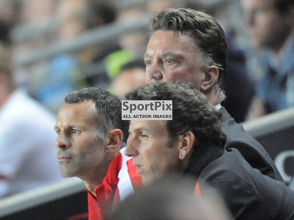 Ryan Giggs, Assistant, Louis van Gaal, Manager, Manchester United, Mk Dons v Manchester United, Capital One Cup,  Milton Keynes, Stadium MK, Tuesday 26th August 2014
