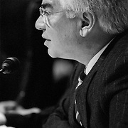 Richard Ben-Veniste at the 9/11 Commission's 9th Public Hearing, held in Washington DC. This was a special hearing to hear the testimony of National Security Adviser Condoleezza Rice.