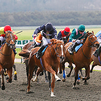 John Louis and Jimmy Fortune winning the 12.50 race