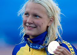 Winner Sarah Sjostrom of Sweden  at the victory ceremony of the Women's 100m Butterfly during the 13th FINA World Championships Roma 2009, on July 27, 2009, at the Stadio del Nuoto,  in Foro Italico, Rome, Italy. (Photo by Vid Ponikvar / Sportida)
