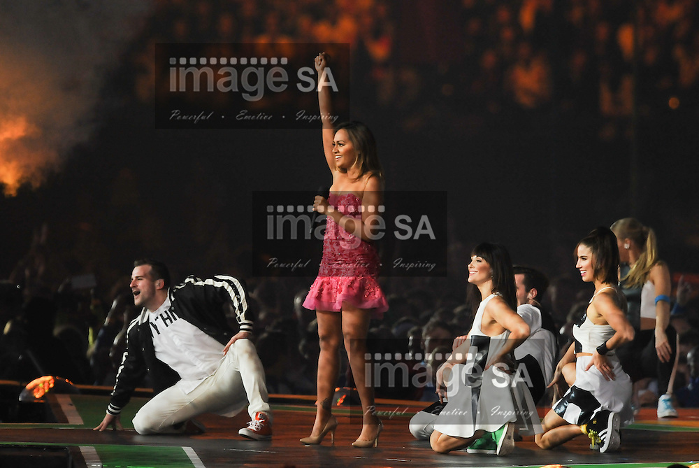 GLASGOW, SCOTLAND - AUGUST 03: Jessica Mauboy during the closing ceremony of the 20th Commonwealth Games at Hampden Park on August 03, 2014 in Glasgow, Scotland. (Photo by Roger Sedres/Gallo Images)