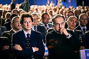 John Elkann e Sergio Marchionne alla Maserati di Grugliasco all'assemblea dell'Unione industriale che si e' svolta nello stabilimento.