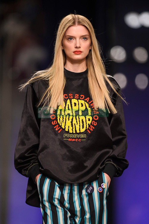 Model Lily Donaldson on the catwalk at at the Topshop Unique Autumn/Winter 2017 London Fashion Week show at Tate Modern, London. PRESS ASSOCIATION Photo. Picture date: Sunday February 19th, 2017. Photo credit should read: Matt Crossick/PA Wire.