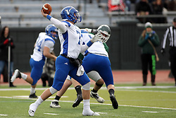 15 November 2014:  T.D. Conway during an NCAA division 3 football game between the North Park Vikingsand the Illinois Wesleyan Titans in Tucci Stadium on Wilder Field, Bloomington IL