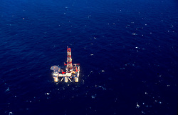 Stock photo of a semi-submersible offshore drilling rig