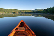 Canoeing on Lake Ninevah, Mount Holly, Vermont.