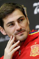 22.03.2016, Ciudad del Futbol de Las Rozas, Madrid, ESP, RFEF, Pressekonferenz spanische Fußballnationalmannschaft, im Bild Iker Casillas during comercial event // during a press conference of spanish national football Team at the Ciudad del Futbol de Las Rozas in Madrid, Spain on 2016/03/22. EXPA Pictures © 2016, PhotoCredit: EXPA/ Alterphotos/ Acero<br /> <br /> *****ATTENTION - OUT of ESP, SUI*****