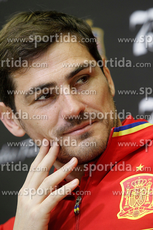 22.03.2016, Ciudad del Futbol de Las Rozas, Madrid, ESP, RFEF, Pressekonferenz spanische Fu&szlig;ballnationalmannschaft, im Bild Iker Casillas during comercial event // during a press conference of spanish national football Team at the Ciudad del Futbol de Las Rozas in Madrid, Spain on 2016/03/22. EXPA Pictures &copy; 2016, PhotoCredit: EXPA/ Alterphotos/ Acero<br /> <br /> *****ATTENTION - OUT of ESP, SUI*****