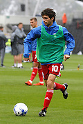 Birmingham City forward Diego Fabbrini (10) warms up before kick off during the EFL Sky Bet Championship match between Fulham and Birmingham City at Craven Cottage, London, England on 10 September 2016. Photo by Andy Walter.