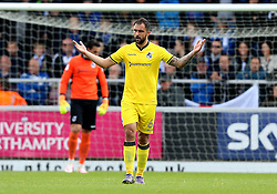 Peter Hartley of Bristol Rovers looks frustrated after his side concede a goal to Northampton Town - Mandatory by-line: Robbie Stephenson/JMP - 01/10/2016 - FOOTBALL - Sixfields Stadium - Northampton, England - Northampton Town v Bristol Rovers - Sky Bet League One