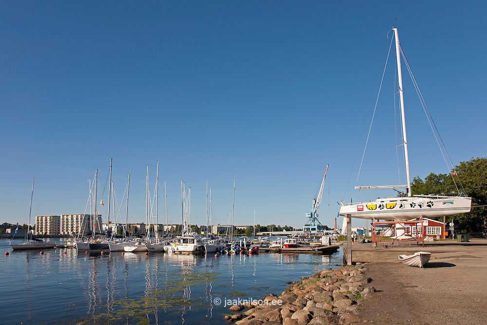 Yacht Marina in Pärnu, Estonia, Europe