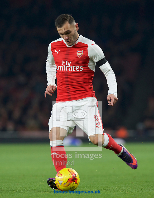 Lucas Perez of Arsenal during the EFL Cup match at the Emirates Stadium, London<br /> Picture by Alan Stanford/Focus Images Ltd +44 7915 056117<br /> 30/11/2016