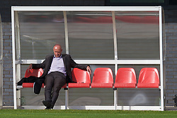 NEWPORT, WALES - Wednesday, October 8, 2014: Wales' head of pubic affairs Ian Gwyn Hughes during training at Dragon Park National Football Development Centre ahead of the UEFA Euro 2016 qualifying match against Bosnia and Herzegovina. (Pic by David Rawcliffe/Propaganda)