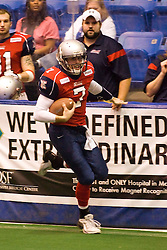 14 March 2009: Mitch Tanney heads up field along the sidelines next to the Extreme bench. The Sioux Falls Storm were hosted by the Bloomington Extreme in the US Cellular Coliseum in downtown Bloomington Illinois.